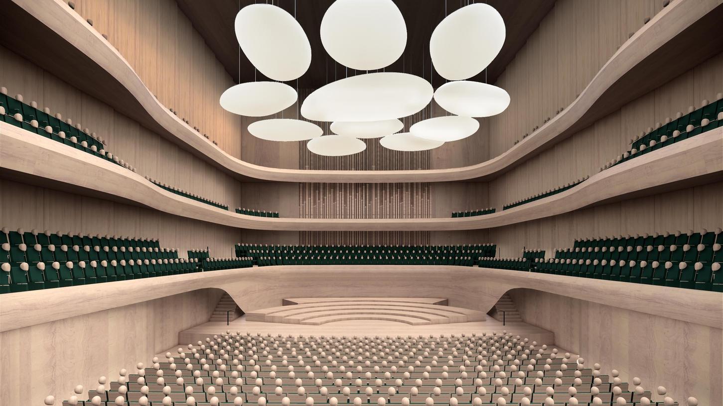 Der Entwurf des ungebauten Nürnberger Konzertsaals sieht gut aus. Doch eine Oper könnte man hier nicht szenisch aufführen, dazu fehlen die baulichen Voraussetzungen.