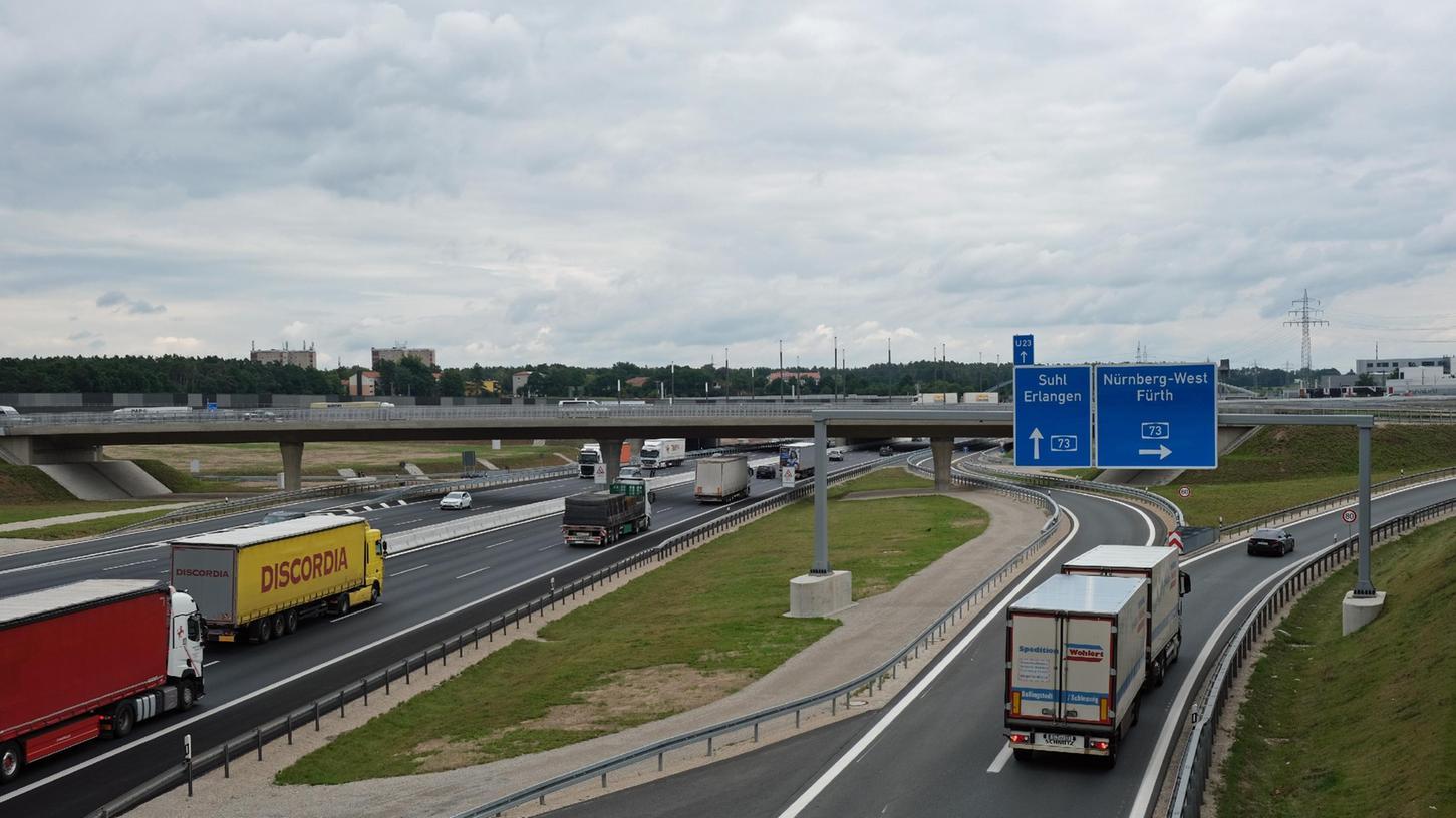 Autobahnkreuz Fürth/Erlangen.