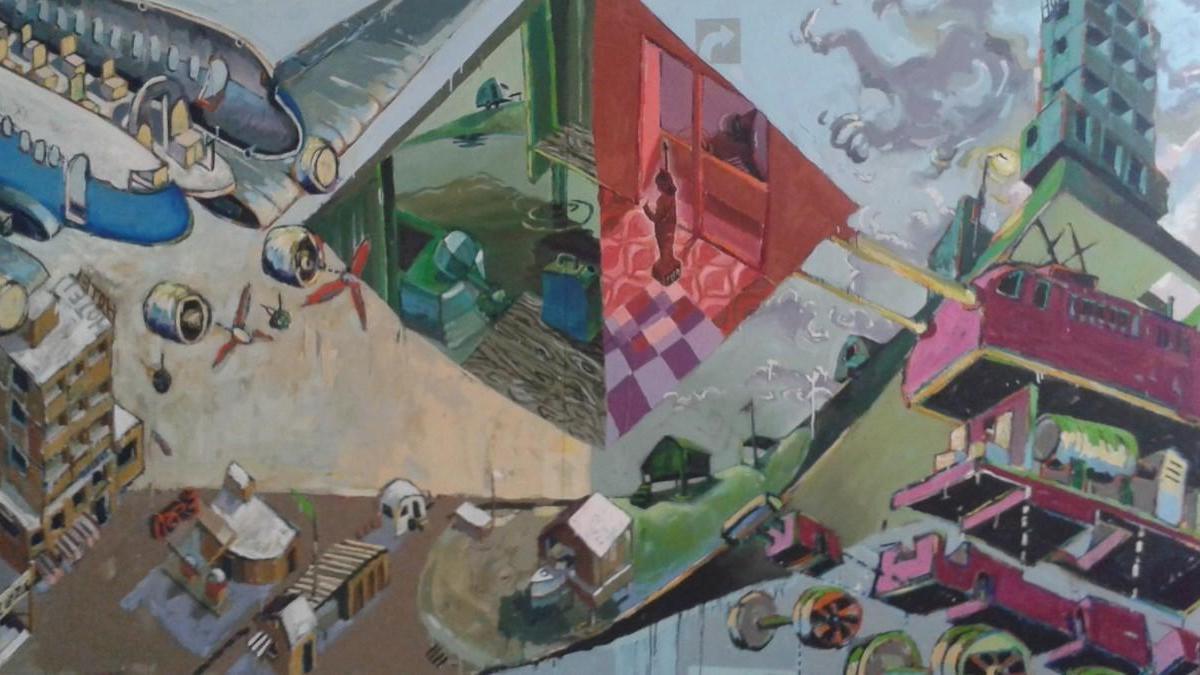 Eine Arbeit von Roger Libesch, die bei der Auktion angeboten wird.
