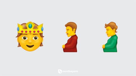 Herz-Hände und schwangere Männer: Das sind die neuen Emojis