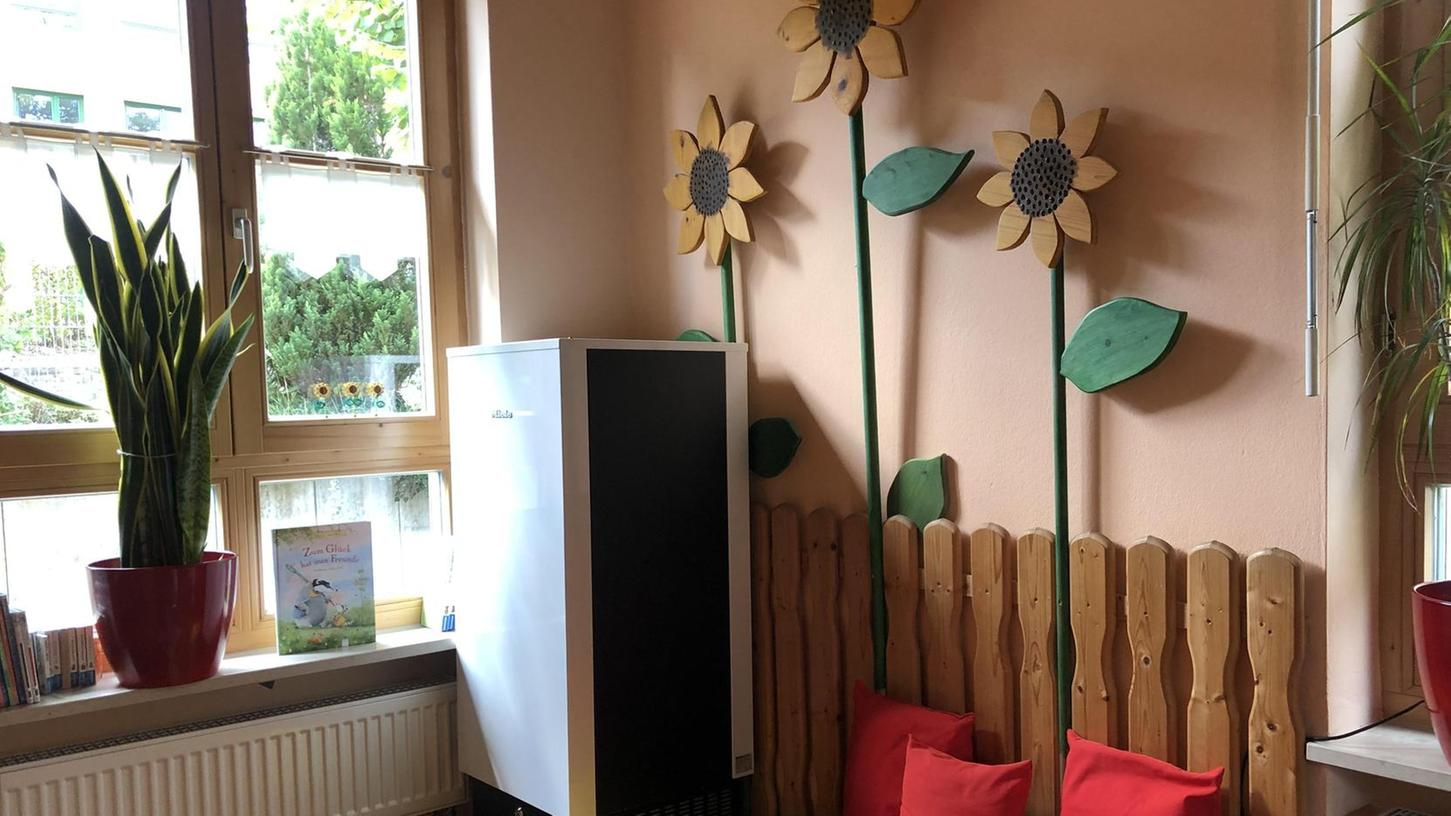 In der Hochgerichtsstraße fand sich in jedem der fünf Räume Platz für einen Luftfilter, der etwa so groß wie ein Kühlschrank ist.