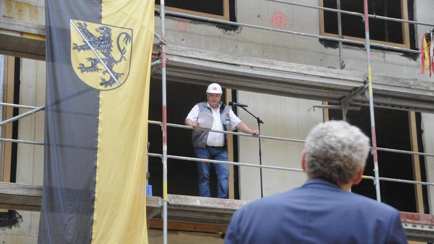 Richtfest beim Rathaus Herzogenaurach