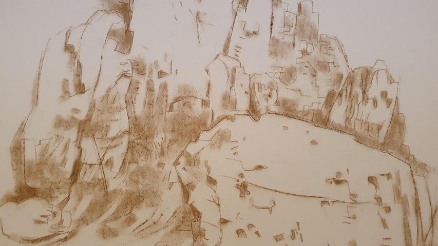 """Ölgemälde, Lithographien, Aquarelle, Scherenschnitte, Papierkunst... Denn vor dem Zweiten Weltkrieg war Griebel als freischaffender Künstler auf jeden Auftrag angewiesen. Helena Kircheis wird bald ein Volontariat am Edwin Scharff-Museum in Neu-Ulm antreten. """"Da kann ich forschen und vermitteln."""