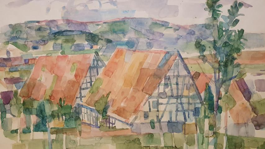 Als Schüler der Buchkunst an der Nürnberger Kunstgewerbeschule unternimmt er mit seinem Lehrer Rudolf Schiestl ausgedehnte Wanderungen in die Fränkische Schweiz. Vor Ort werden Naturstudien und Malereien angefertigt, ganz in der Tradition der Plenairmalerei (Freilichtmalerei), wie sie die Impressionisten pflegten.