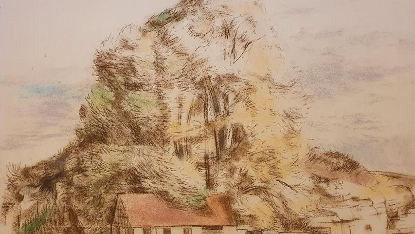 Die frühen Arbeiten aus den 20er und 30er Jahren orientieren sich noch stark an der Natur, während Griebel sich im Aquarell der 50er und 60er Jahre von der festen Formgebung löst.
