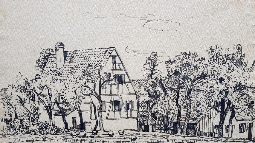 Fritz Griebel und die Fränkische Schweiz;     Bauernhof;     Fotos: Udo Güldner;     Datum: 16.09.2021