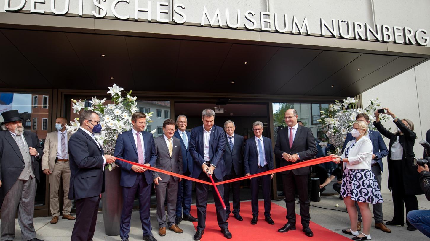 Das Deutsche Museum in Nürnberg wurde unter anderem im Beisein von Markus Söder eröffnet.