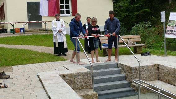 Neue Kneippanlage in Pottenstein eröffnet