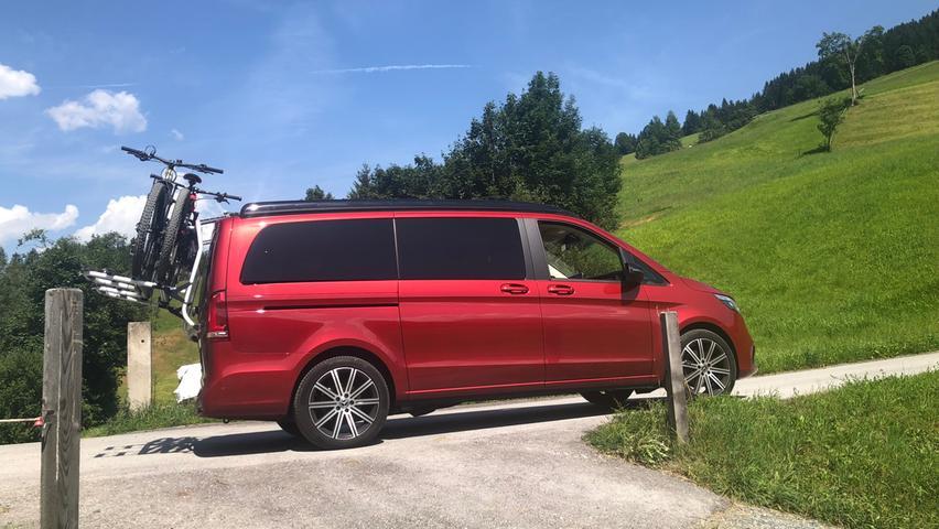 Wendig und agil: Im Fahrverhalten ist der Camper mit Stern ganz Pkw.
