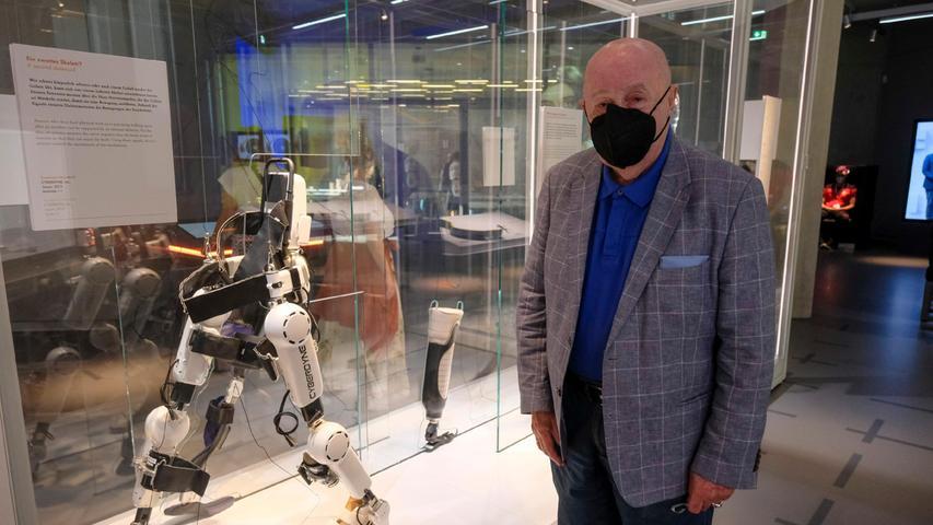 Er dürfte einer der ältesten Besucher am Samstag gewesen sein: Georg Jung. Er ist zwar eher klassische Museen gewöhnt, freut sich aber schon, mit seinen Urenkeln das Zukunftsmuseum zu besuchen.