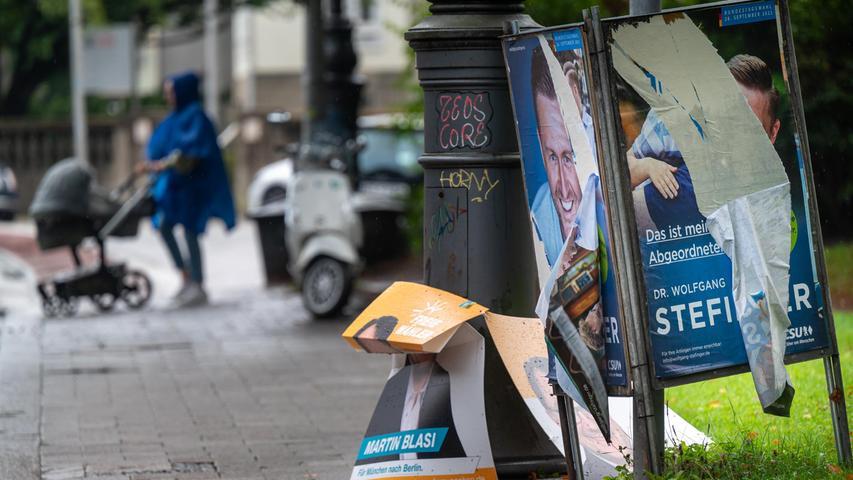 Vandalismus bei Wahlplakaten: Ansbach Schwerpunkt bei beschädigten und beschmierten SPD-Plakaten