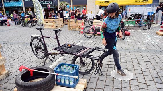 Packende Szenen beim 2. Fürther Lastenradrennen