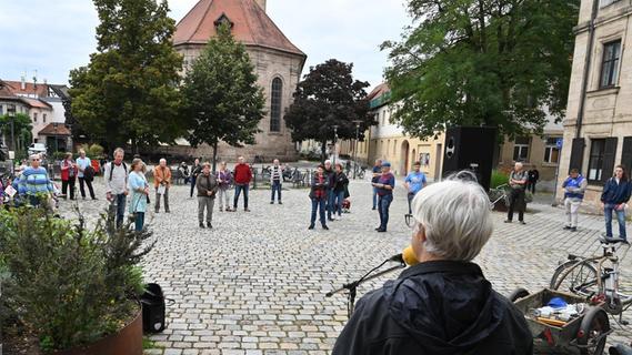 Demo für arbeitsfreien Sonntag in Erlangen
