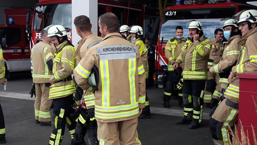 Start der Übung war am Feuerwehrhaus in Kirchehrenbach.