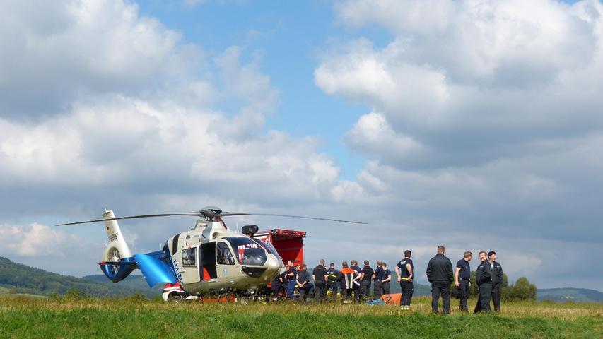 Von Kirchehrenbach aus wurde der Einsatz der Rettungskräfte koordiniert.