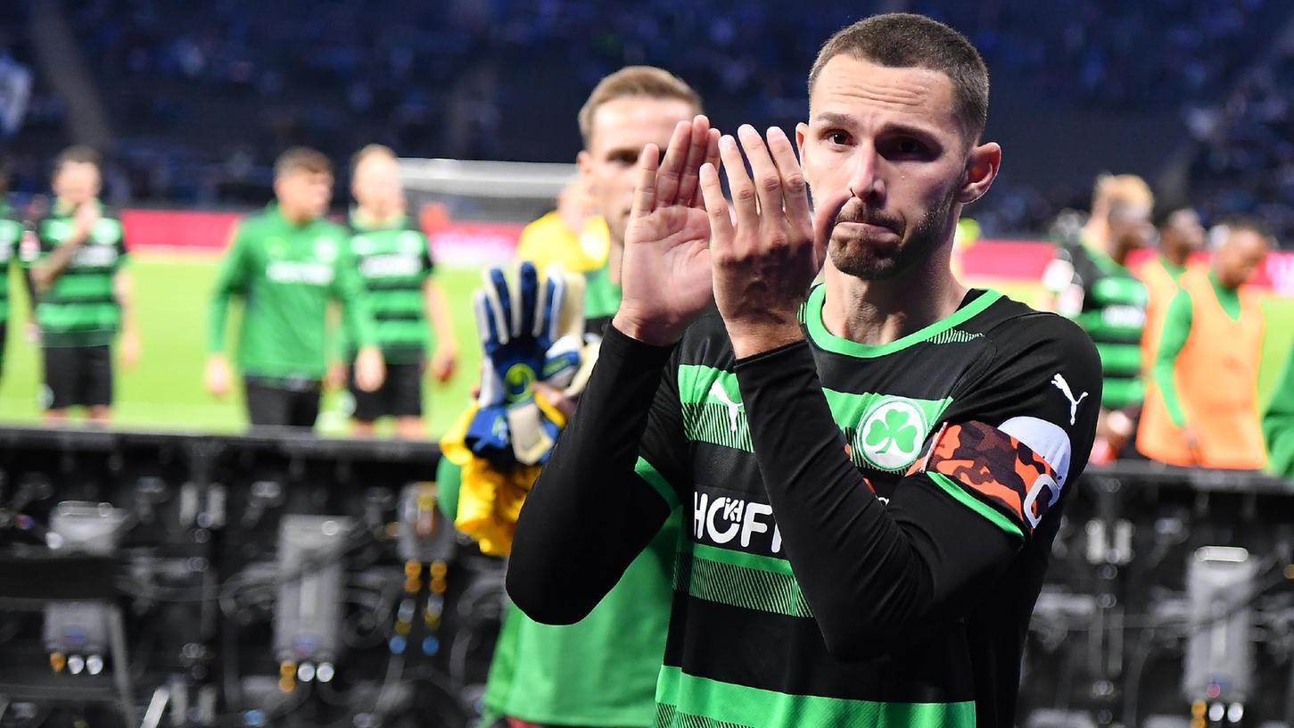 Der Klub der langen Gesichter: Branimir Hrgota erzielte in Berlin die erste Fürther Führung der Saison, am Ende klappte es trotzdem nicht mit einem Punktgewinn.