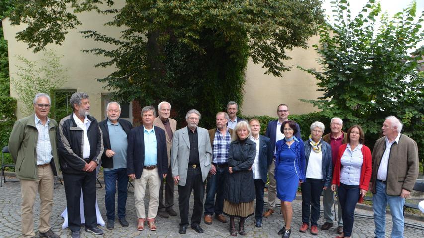 """Empfang der Stadt für das """"Spiel ohne Grenzen""""-Team von 1971. Vor 50 Jahren gewann es gleich zweimal: zunächst in Schwabach, kurz darauf in Solothurn."""
