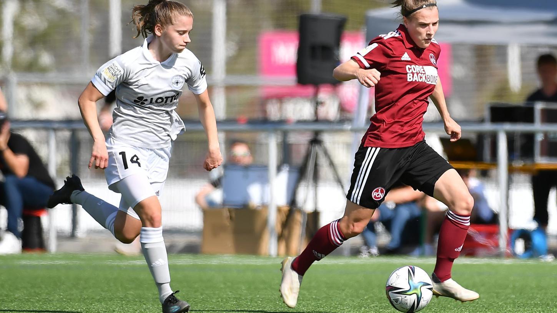 FünfTore in vierSpielen: Natassja Lein (re.) traf auch beim 4:2 gegen Andernach.