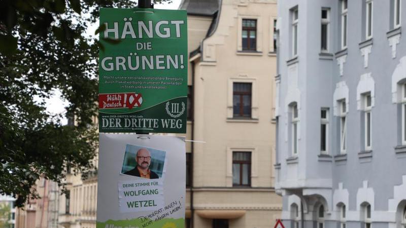 Ein umstrittenes Wahlplakat der Splitterpartei