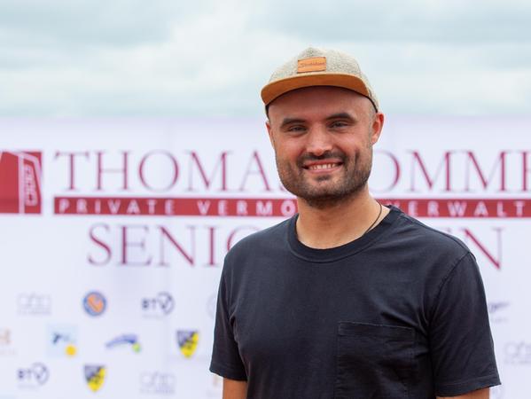 Sieger der Herren 30-Konkurrenz: Dino Volkholz.