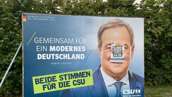 Überklebte Plakate in Höchstadt: CSU-Ortsvorsitzender fordert Spende von Fridays for Future