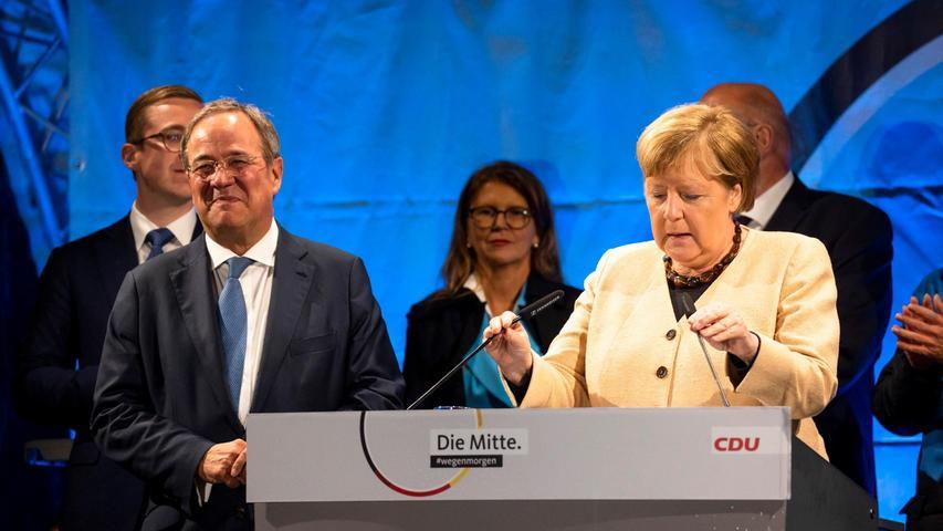 Wahl-Ticker: Merkel und Laschet warnen vor Rot-Grün-Rot