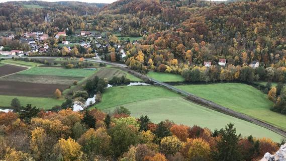 Herbst in der Fränkischen. Ein Rückzugsort für Tagesbesucher und gleichzeitig Wohnort vieler Menschen.