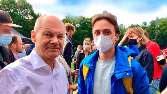 Baerbock, Scholz, Wissler: Junger Franke Aug' in Aug' mit den Spitzenkandidaten