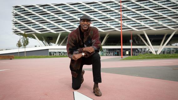 Leichtathletik-Legende Edwin Moses bei adidas in Herzogenaurach