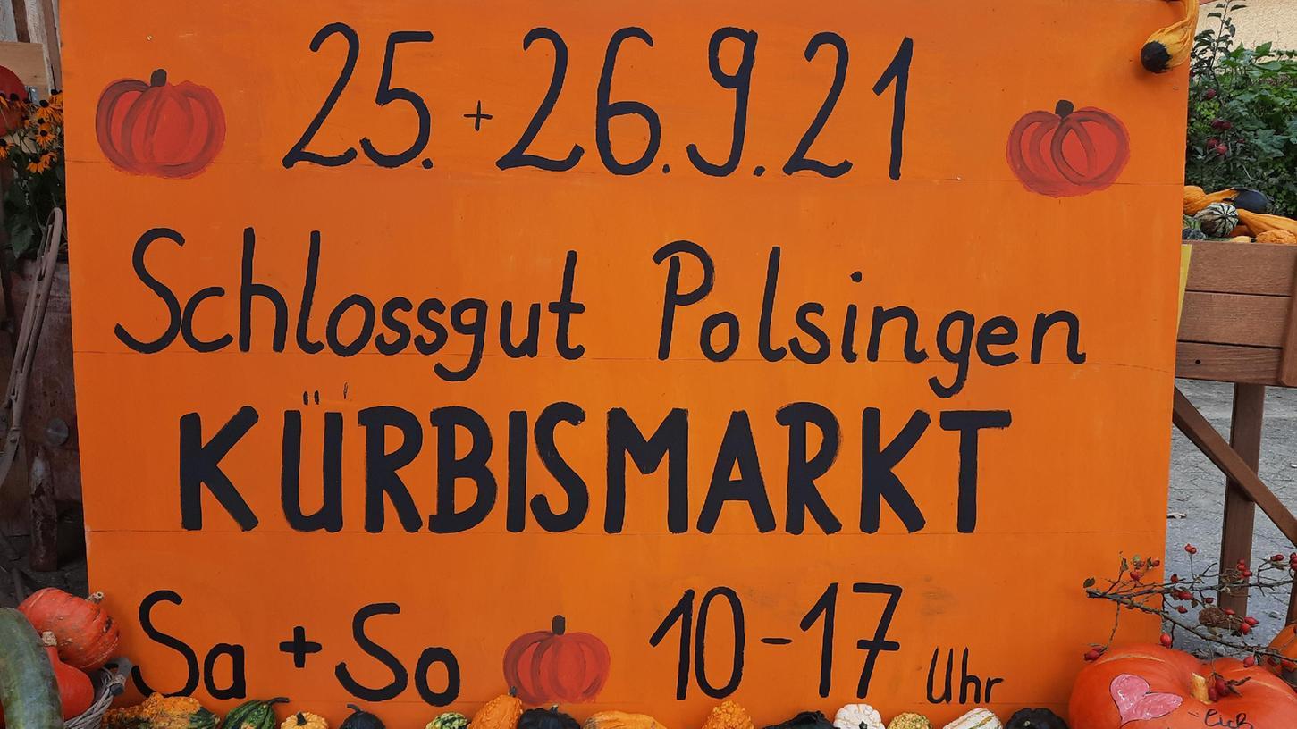 Am Wochenende lädt der Kürbismarktim Schlossgut nach Polsingen ein.