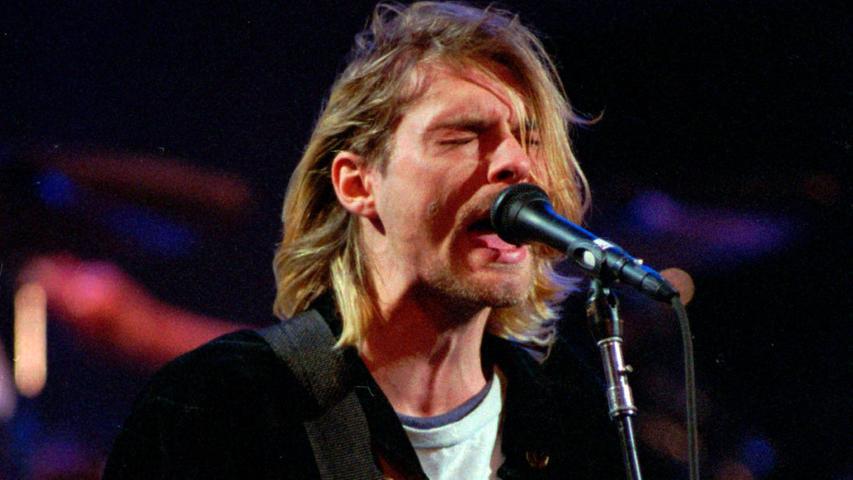 Kurt Cobain 1993 bei einem Live-Konzert.