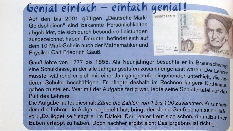 """""""Es geht aber darum, Lösungswege zu finden"""": Eine Seite aus einem Algebra-Buch, das Rainer Feuerlein und Harald Walter zusammen gestaltet haben."""