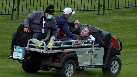 Schock beim Golfspielen: