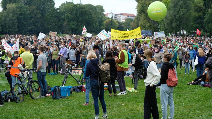 #AllesfürsKlima: Zahlreiche Demonstranten machen an Wöhrder Wiese auf Klimaschutz aufmerksam