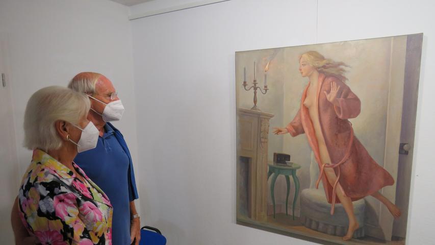 Nach langer Pause stellt der Künstler Fernando de la Jara aktuell einmal wieder  einige seiner Bilder in Pappenheim aus. Schon bei der Vernissage fesselten die  Gemälde die Besucher.