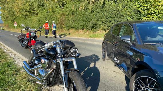 Wiesenthau: Motorradfahrer nach Unfall schwer verletzt