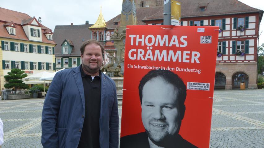 Direktkandidat Thomas Grämmer sagte bei der Wahlparty im Karl-Bröger-Haus, er sei
