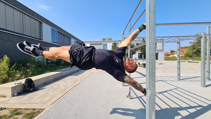 Ganzer Körpereinsatz: Beim Calisthenics-Training machen die Atlethen ausschließlich Eigengewichtsübungen. Für die