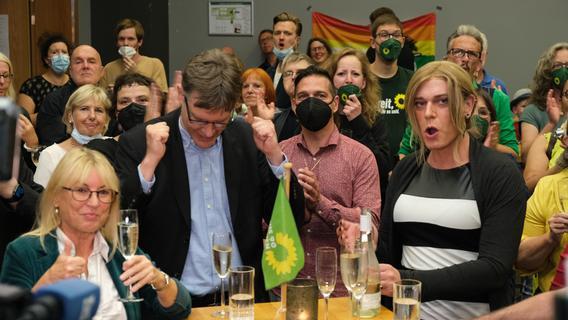 Grünen-Wahlparty in Nürnberg: