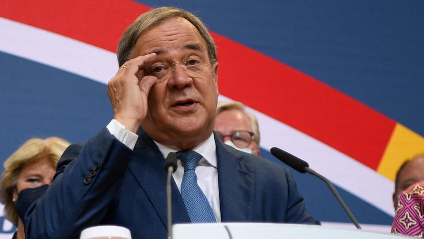 Unionskanzlerkandidat Armin Laschet will trotz des schwachen Abschneidens bei der Bundestagswahl versuchen, eine unionsgeführte Regierung zu bilden.