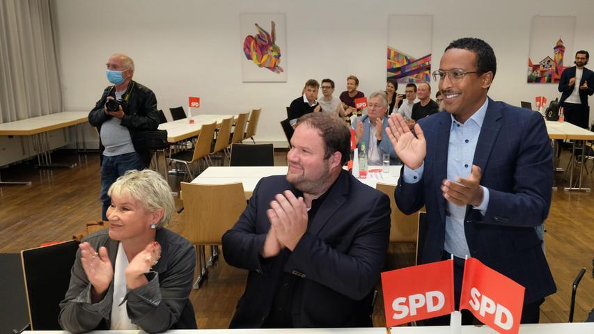 Jubel auch bei den Sozialdemokraten in Nürnberg.