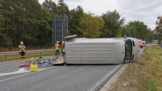 Über zwei Promille: Transporter-Fahrer gerät bei Sengenthal in Gegenverkehr