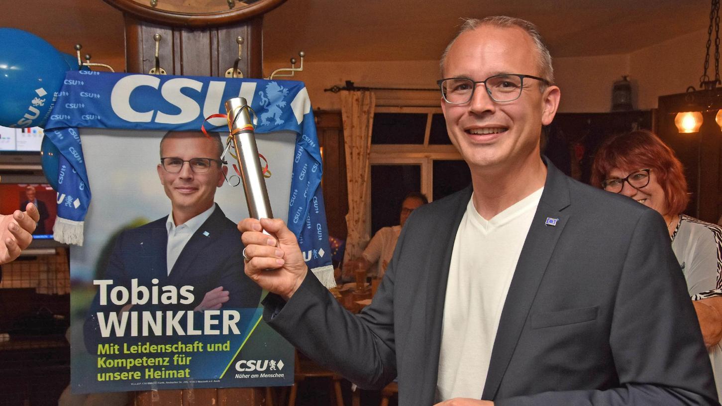 Tobias Winkler hat das Direktmandat im Wahlkreis Fürth gewonnen.