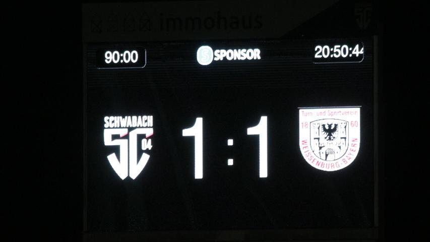 Am Ende prangte ein 1:1-Unentschieden auf der Anzeigentafel im Schwabacher Stadion.