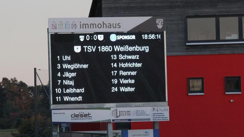 So sah die Weißenburger Startaufstellung beim Landesliga-Derby in Schwabach aus.