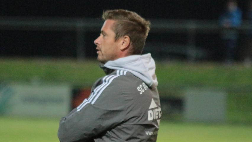Schwabachs Trainer Jochen Strobel konnte mit dem Unentschieden aus Sicht des Tabellenzweiten natürlich nicht zufrieden sein.