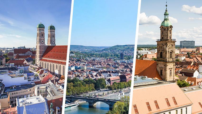 In drei bayerischen Städten sind die Grünen die stärkste Partei.