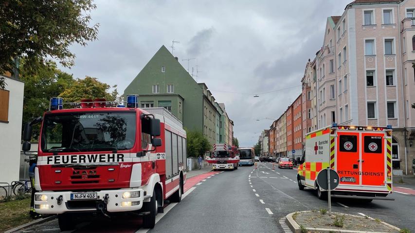 Die Rothenburger Straße musste kurzzeitig in beide Richtungen gesperrt werden.
