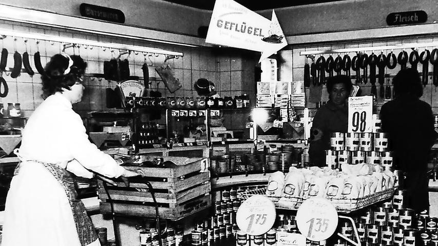 Bescheidene Anfänge: So sah ein Verkaufsraum von Norma um das Jahr 1960 aus. Auch dieses Bild ist in der Schau zu sehen.