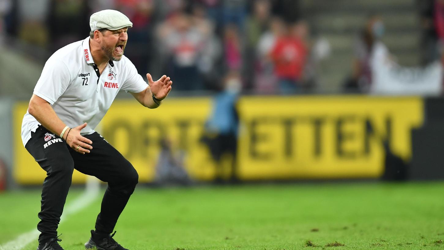Emotionale Antreiber an der Seitenlinie: Kölns Trainer Steffen Baumgart.